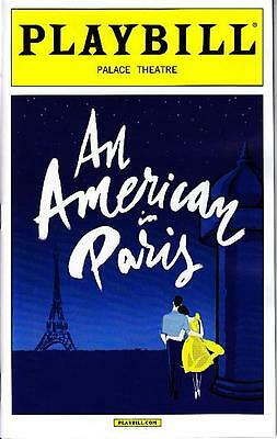 AN AMERICAN IN PARIS PLAYBILL NYC NEW YORK BROADWAY APRIL 2015