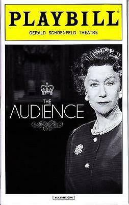 THE AUDIENCE PLAYBILL BROADWAY NYC NEW YORK APRIL 2015 HELEN MIRREN