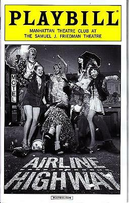 AIRLINE HIGHWAY PLAYBILL BROADWAY NYC NEW YORK APRIL 2015