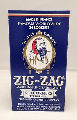 Zig-Zag Kutcorners Free Burning Gummed  Cigarette Rolling Papers 24 Booklets. for sale  Shipping to Canada