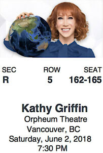 1/2 PRICE-KATHY GRIFFIN TICKETS-Sat., June 2-Orpheum Theatre