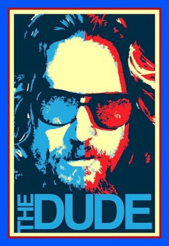 "4"" Funny The Dude vinyl sticker. Big Lebowski movie decal 4 car, laptop, tumbler"