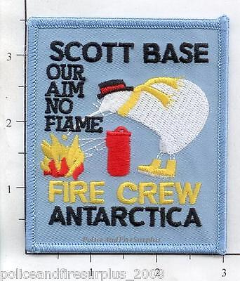 Antarctica - Scott Base Fire Crew Fire Dept Patch