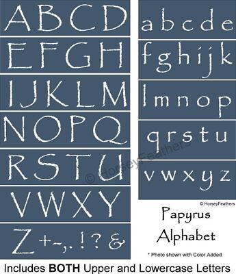 Letter U Crafts (NEW-Papyrus Alphabet STENCILS~Upper & Lowercase Letters DIY U Pick U Paint)