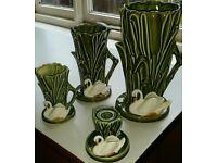 Sylvac swan vases