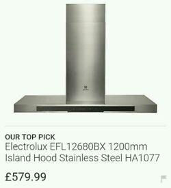 brand new Electrolux cooker hood EFL12680BX