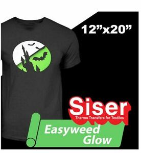 Siser Glow in the Dark 12'' x 20'' sheet Heat transfer vinyl