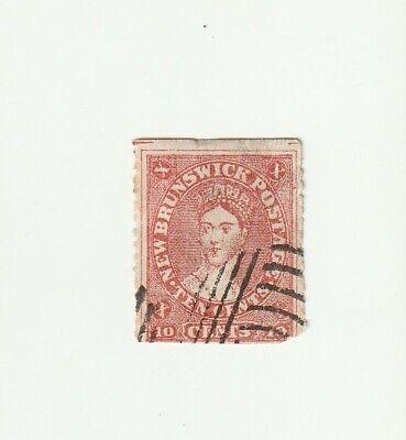 New Brunswick Canada 1860 10c QV Used Stamp