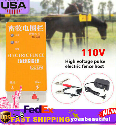 Electric Fence Systems Animal Ranch Energy Controller Electronic Charger Dc 12v