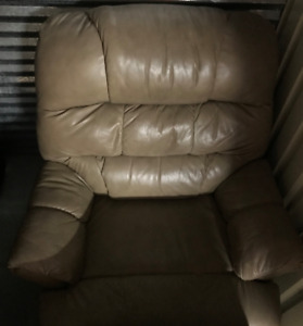Leather Recliner Rocker Perfect For Telling Family Stories