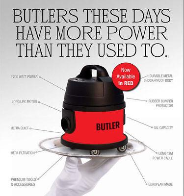 CLEANSTAR RED BUTLER COMMERCIAL VACUUM CLEANER MADE IN EUROPE + BONUS BAGS