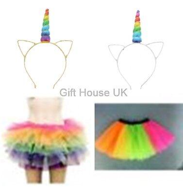 Unicorn Halloween Costume For Adults ( Adults Rainbow Unicorn Tutu Leg Warmers Halloween Fancy Dress Party)