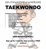 SOUTHWESTERN WARRIORS TAEKWONDO
