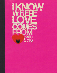 NEW-Notebook-Christian-Stationary-John-3-16-Scripture-Great-as-a-Prayer-Journal