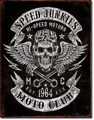 Biker Rockabilly Race Schild Poster Motorrad Deko Garage Kustom shop  *298 .