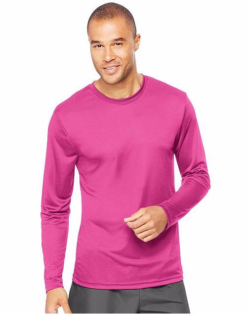 Hanes® Sport™ Men's FreshIQ™ Cool DRI® Long Sleeve Tee