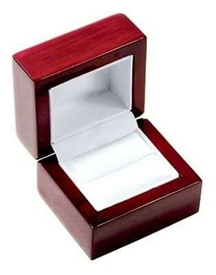 12 Elegant Cherry Wood Ring Jewelry Display Gift Boxes