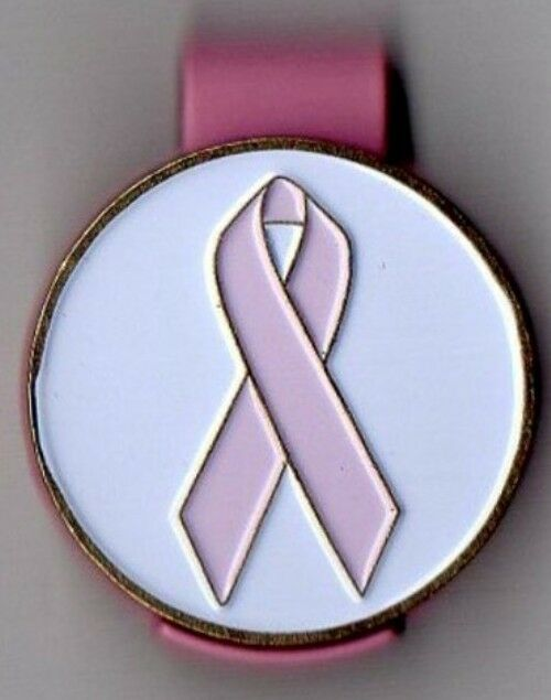 "Breast Cancer Awareness 1"" Golf Ball Marker & Pink Hat Clip"
