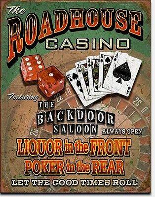 Casino Poker Zocker Blackjack Spieler Dices Blechschild Plakat Schild Sign *099