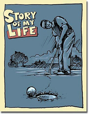 * Golfspiel Golf Golfer Deko Fun Schild Sign Poster Golfplatz Deko *008