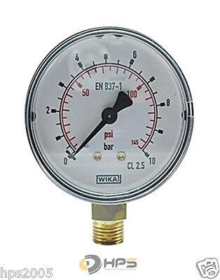 Wika Manometer (WIKA Vakuum- und Druckmanometer Senkrecht  Ø50mm Manometer Luft Druckluft)