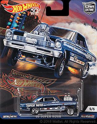 Hot Wheels Chevy Super Nova 66 Mooneyes Dragstrip Demons FPY86-956F 1/64
