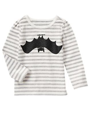 Halloween Crazy 8 (NWT Crazy 8 HALLOWEEN SHOP Black White Striped Glitter Bat T-Shirt)