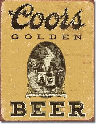 COORS Golden Vintage Beer Bar Tin Sign Metal Poster