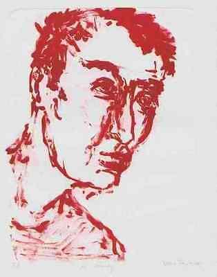 Mr.WOODY 2000 - Bettina FRANKE - Handsignierte OrigLithographie (LEIPZIGER HS)