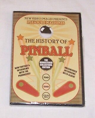 New! The History Of Pinball DVD A Must For Pinball Machine Collectors! Free Ship