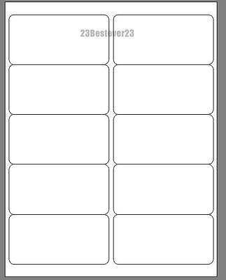 10 Blank 2 X 4 White Address Laser Mailing Return Labels 1 Sheet