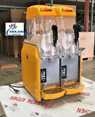 New 2 Flavor Dispenser Frozen Slushie Machine Icee Slush Puppie Smoothie Maker
