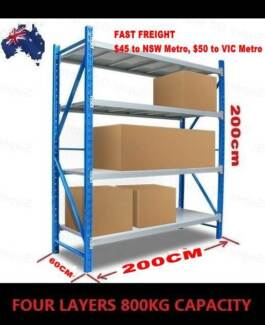 800KG 2Mx2M Heavy Duty Shelving Racking Garage Warehouse Storage Castle Hill The Hills District Preview