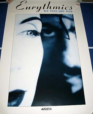 The Eurythmics We Too Are One Poster 1989 Vintage Eighties