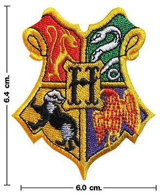 Harry Potter HOGWARTS SCHOOL Emblem Embroidery Stick Crest Iron On Patch Badge