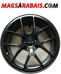 Mags staggered 5x114.3 Noir satin 19X8.5 + 19X9.5 Offset 35 CLEAR BREMBO **MAGS A RABAIS**