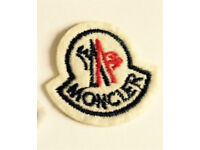 Moncler iron on/sew on small patch badge label **Set of 10**