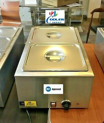 New 2 Pan Electric Warmer Restaurant Buffet Catering Food Server Nsf Mane Marie