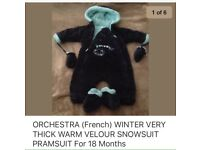 BABY PRAMSUIT SNOWSUIT FOR UP TO 18 Months old Baby