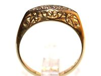 STUNNING 18CT GOLD & PLATINUM MEN'S EARLY EDWARDIAN DIAMOND RING FREE RESIZING HALLMARKED MADE ENG