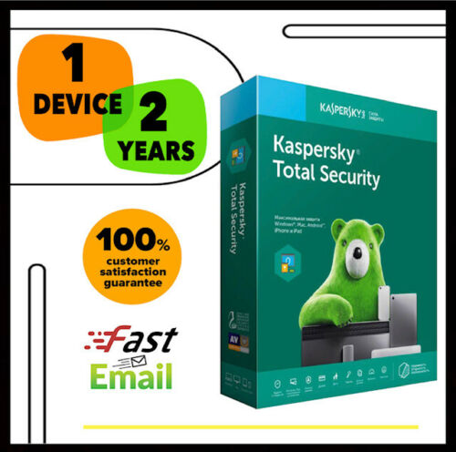 Kaspersky Total Security Antivirus 2020 - 1 PC Device 2 YEAR - GLOBAL LICENSE
