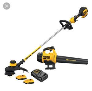 Dewalt brushless grass trimmer and blower kit