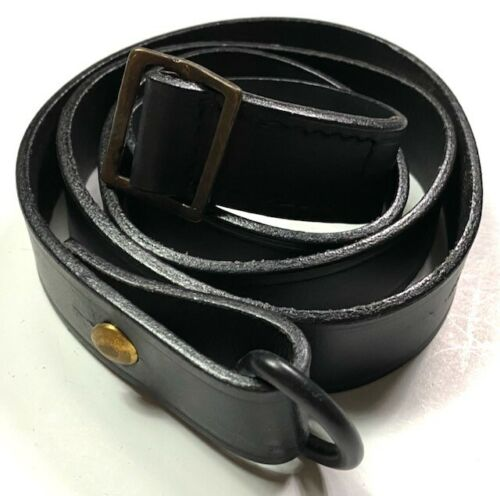WWI FRENCH LEBEL 1890/92 1915 RIFLE LEATHER CARRY SLING-BLACK LEATHER