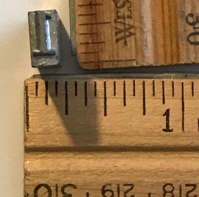 Vintage Antique Metal Printer Printing Press Block Tiny Number 1 7670