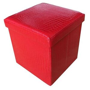 Large 2 Seater Ottoman Folding Storage Blanket Toy Box Pouffe Seat Stool