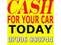 07806 880 744 CAR VAN WANTED FOR CASH SCRAPPING COLLECTION BIKE ANY