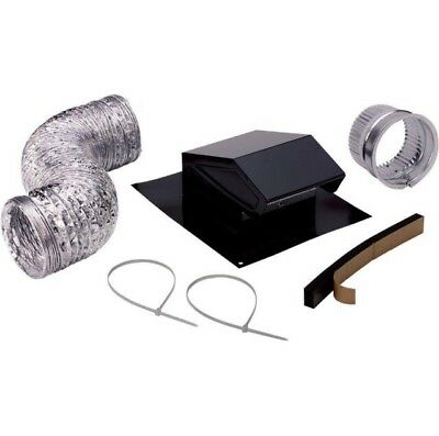 Roof Vent Cap Duct Kit Kitchen Bathroom Attic Exhaust Ducting Fan Ventilation