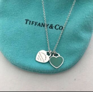 Tiffany & Co Mini Double Heart Necklace