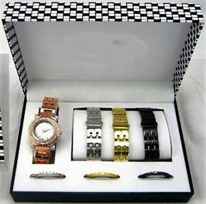 BRAND NEW ** Women's WATCH Set with 4 Color Band & Bazel Rooty Hill Blacktown Area Preview