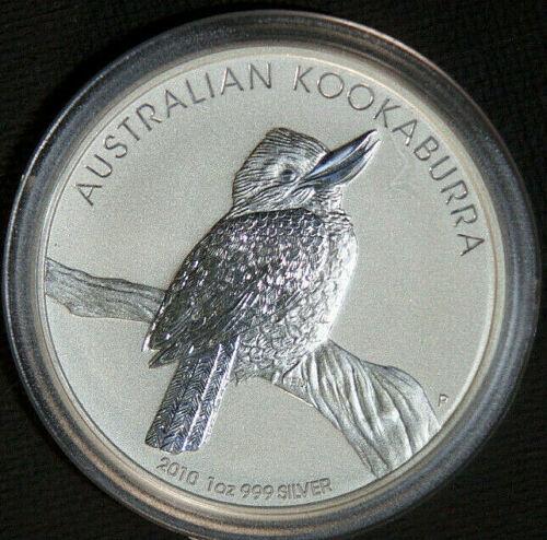 2010 1 oz Silver Australian Kookaburra Perth Mint .9999 BU BIN Coin Kook Fine